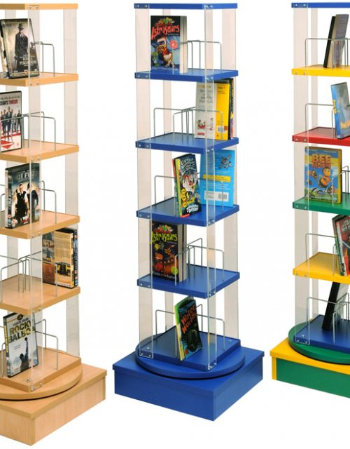 Low Paperback/DVD Library Spinner | Educational Library Furniture | United Kingdom