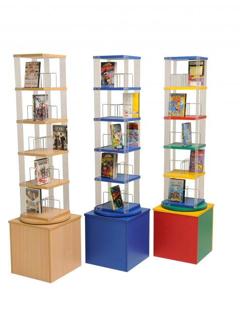High Paperback/DVD Library Spinner | Educational Library Furniture | United Kingdom