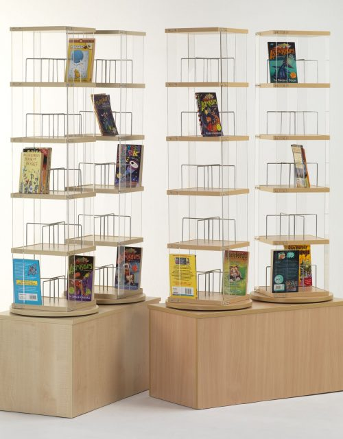 High Double CD Library Spinner | Education Library Furniture | United Kingdom